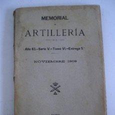 Militaria - memorial de artilleria noviembre 1908 (año 63-serieV-tomoXI-entrega 5ª: caballos de artilleria) - 21547354