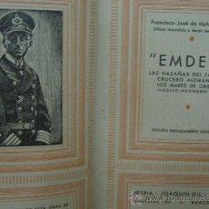 Militaria: EMDEN HAZAÑAS DEL CRUCERO ALEMÁN EN LA PRIMERA GUERRA MUNDIAL. 235 PAGINAS. DICIEMBRE DE 1939. Lote 22023515