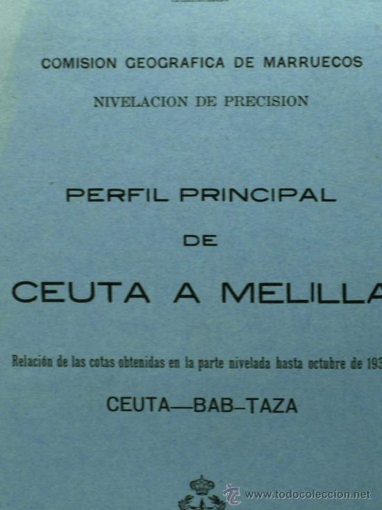 Militaria: Perfil principal de Ceuta y Melilla Madrid 1930 de Federico Montaner Canet a Agustin Muñoz Grandes - Foto 2 - 22372017