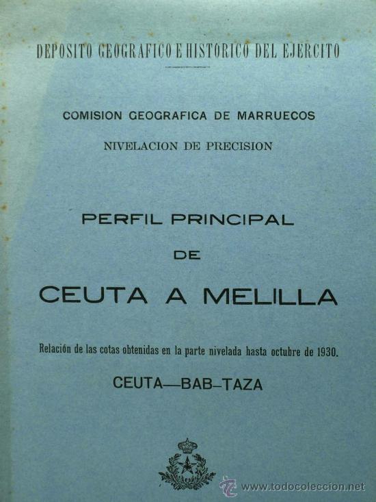Militaria: Perfil principal de Ceuta y Melilla Madrid 1930 de Federico Montaner Canet a Agustin Muñoz Grandes - Foto 3 - 22372017