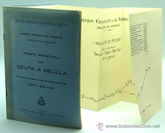 Militaria: Perfil principal de Ceuta y Melilla Madrid 1930 de Federico Montaner Canet a Agustin Muñoz Grandes - Foto 7 - 22372017