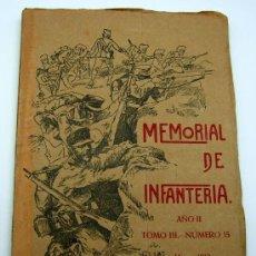 Militaria: MEMORIAL DE INFANTERÍA AÑO II TOMO III Nº 15 MARZO 1913 IMP COLEGIO Mª CRISTINA TOLEDO.. Lote 22657698