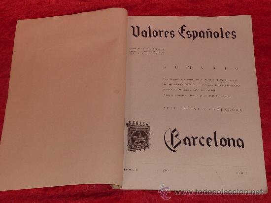 Militaria: Rara revista libro: valores españoles. Informaciones de Cataluña y con fotos militares guerra civil - Foto 2 - 111402107