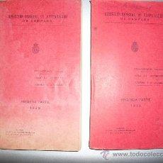Militaria: 1929 REGLAMENTO TACTICO PARA LA ARTILLERIA LIGERA Y A CABALLO DOS TOMOS. Lote 22969977