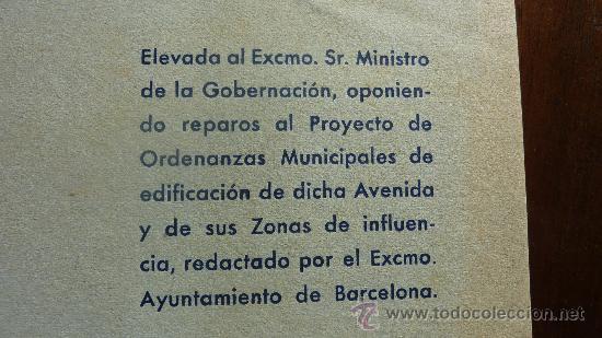 Militaria: Raro libro en defensa de la avenida del generalisimo. Amigos de Barcelona. 1948. - Foto 2 - 24157080