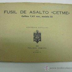 Militaria: FUSIL DE ASALTO CETME CALIBRE 7,62 MM. MODELO 58 ACADEMIA POLICIA ARMADA. Lote 53041006
