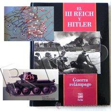 Militaria: LIBRO GUERRA RELÁMPAGO - EL III REICH Y HITLER NAZIS II MUNDIAL TANQUES ARMAS TIME LIFE FOLIO FOTOS. Lote 27548976
