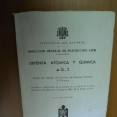 Militaria: DIRECCION GENERAL DE PROTECCION CIVIL,DEFENSA ATOMICA Y QUIMICA, AQ-2.1966. Lote 25831135