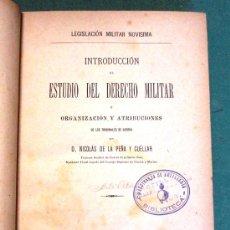 Militaria: 'DERECHO MILITAR'. AÑO 1886, 629 PÁGINAS.. Lote 26975269