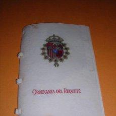Militaria: CARLISMO - ORDENANZA DEL REQUETE, EDC. EN PERGAMINO,-8 PAG, 12,5X9 CM. . Lote 27821220