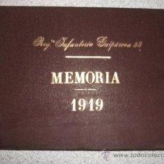 Militaria: MEMORIA 1919 REGIMIENTO INFANTERÍA GUIPUZCOA 53 MECANOGRAFIADO MAPAS DIBUJOS FIRMAS VITORIA MILITAR. Lote 27957828