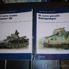 Militaria: DOS LIBROS DE CARROS DE COMBATE.. Lote 28053142