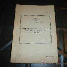 Militaria: LIBRO, DESCRIPCION MANEJO Y FUNCIONAMIENTO DE LA AMETRALLADORA ALFA DE 7,92 MM. Lote 28053264