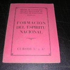 Militaria - FORMACION DEL ESPIRITU NACIONAL , FRENTE DE JUVENTUDES SECCION PROVINCIAL DE CENTROS DE ENSEÑANZA - 28169431