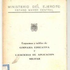 Militaria: TABLAS DE GIMNASIA EDUCATIVA Y EJERCICIOS DE APLICACION MILITAR. Lote 176152633
