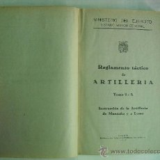 Militaria: INSTRUCCION DE LA ARTILLERIA DE MONTAÑA Y A LOMO. Lote 28267463