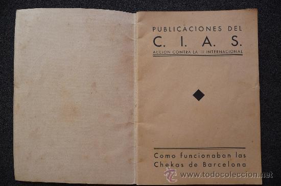 Militaria: (JX-807)LIBRETO COMO FUNCIONABAN LAS CHECAS DE BARCELONA-GUERRA CIVIL - Foto 2 - 28657963