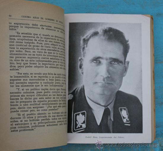 Militaria: ANTIGUO LIBRO - CUATRO AÑOS DE GOBIERNO DE HITLER - ECKEHART - 239 PAGINAS - CON MULTITUD DE FOTOGRA - Foto 2 - 28993330