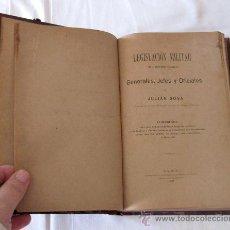 Militaria: LEGISLACION MILITAR - 1905 - POR JULIAN SOSA - RELATIVO A LAS HOJAS DE SERVICIO. Lote 29556965