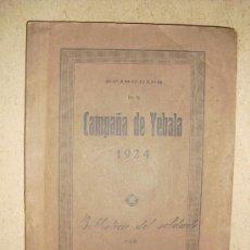 Militaria: 1924 GUERRA DE MARRUECOS EPISODIOS DE LA CAMPAÑA DE YEBALA SIGIFREDO SAIZ. Lote 29863197