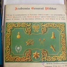 Militaria: 1967 ENTREGA DE DESPACHOS A LOS ALFERECES CADETES DE LA XXIV PROMOCION DE LA ACADEMIA GRAL. MILITAR. Lote 30057376
