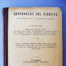Militaria: 1 LIBRO DE ORDENANZAS DEL EJÉRCITO 1958.. Lote 30755938