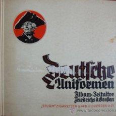 Militaria: LIBRO ALBUM ALEMAN DEUTSCHE UNIFORMEN. Lote 31162617