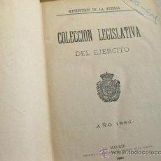 Militaria: COLECCION LEGISLATIVA DEL EJERCITO DE 1886 - LAMINAS DE FERROCARRILES. Lote 31281053