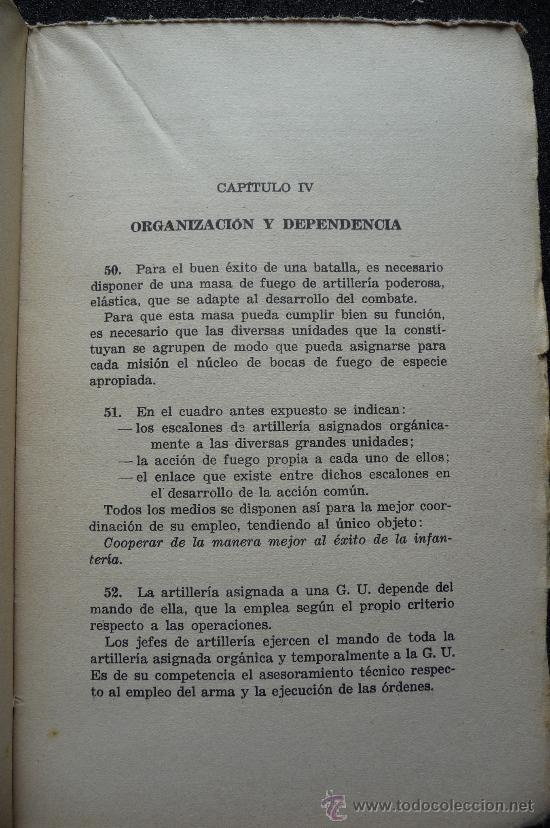 Militaria: (JX-109)LIBRO LA ARTILLERIA EN COMBATE,COMANDO TRUPPE VOLONTAIRE-GUERRA CIVIL - Foto 3 - 31561841