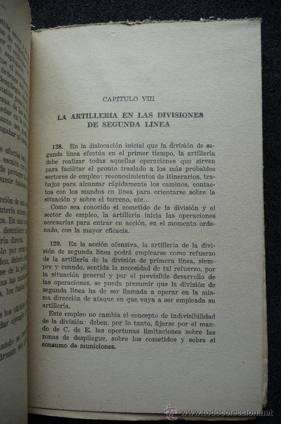 Militaria: (JX-109)LIBRO LA ARTILLERIA EN COMBATE,COMANDO TRUPPE VOLONTAIRE-GUERRA CIVIL - Foto 4 - 31561841