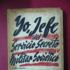 Militaria: YO JEFE DEL SERVICIO SECRETO SOVIETICO (CON EL SELLO DEL FRENTE DE JUVENTUDES) TDK40. Lote 31879895