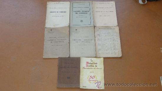 LOTE DE LIBROS DEL CUERPO DE CORREOS, DE AÑOS 20, 30 Y 40. Y EL ESPECIAL 50 ANIVERSARIO (Militar - Libros y Literatura Militar)