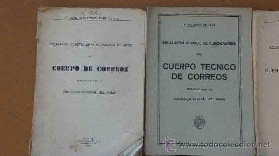 Militaria: Lote de libros del cuerpo de Correos, de años 20, 30 y 40. Y el especial 50 aniversario - Foto 2 - 32134898