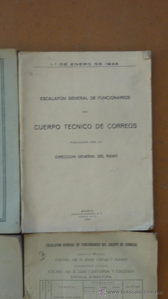 Militaria: Lote de libros del cuerpo de Correos, de años 20, 30 y 40. Y el especial 50 aniversario - Foto 3 - 32134898