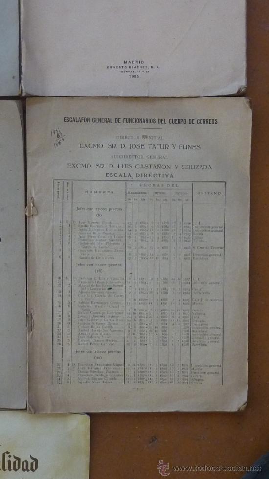 Militaria: Lote de libros del cuerpo de Correos, de años 20, 30 y 40. Y el especial 50 aniversario - Foto 4 - 32134898