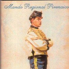 Militaria: PROGRAMA CONCIERTO MANDO REGIONAL PIRENAICO 2002. Lote 32219550
