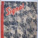 Militaria: SIGNAL - TOMO CON 12 NÚMEROS - DEL Nº 1 AL 12 - DE ENERO A JUNIO DE 1943.. Lote 32840784