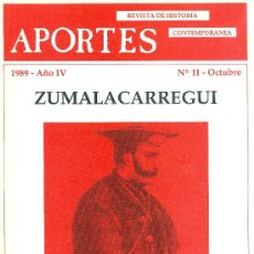 Militaria: REVISTA APORTES ESPECIAL ZUMALACARREGUI. Lote 32912859