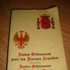 Militaria: LIBRO DE LAS REALES ORDENANAZAS PARA LAS FUERZAS ARMADAS, REALES ORDENANZAS DEL EJERCITO DE TIERRA. Lote 33109971
