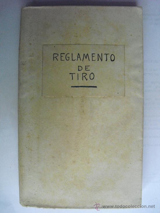 1929 REGLAMENTO PARA LA INSTRUCCION DEL TIRO DE ARTILLERIA PRIMERA PARTE (Militar - Libros y Literatura Militar)
