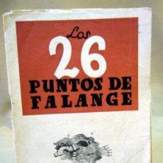 Militaria: LIBRO, LOS 26 PUNTOS DE FALANGE, SECCION FEMENINA, JONS. Lote 33806980
