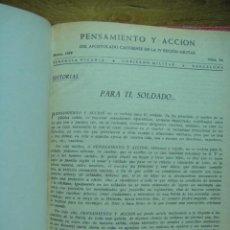 Militaria: PENSAMIENTO Y ACCION DEL APOSTOLADO CASTRENSE DE LA IV REGION MILITAR. Lote 33967586