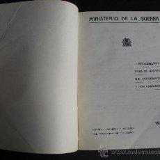 Militaria: 1935 REGLAMENTO PARA EL SERVICIO DE INFORMACION EN CAMPAÑA. Lote 34254008