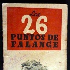 Militaria: LOS 26 PUNTOS DE FALANGE. SECCIÓN FEMENINA DE FET. Y DE LAS JONS. Lote 34290075