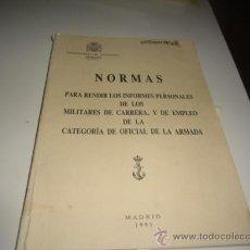 Militaria: NORMAS PARA RENDIR INFORMES PERSONALES MADRID 1993 G-EST18. Lote 34346049