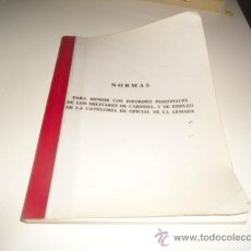Militaria: G-EST18 NORMAS PARA RENDIR LOS INFORMES PERSONALES DE LOS MILITARES DE CARRERA Y EMPLEO OFICIAL ARMA. Lote 34346122