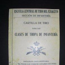 Militaria: 1907 CARTILLA DE TIRO ESCUELA EJERCITO ESPAÑOL MAUSER. Lote 35338822