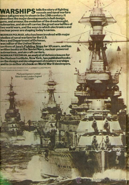 Militaria: WARSHIPS, FROM EARLY STEAM TO NUCLEAR POWER - NORMAN POLMAR & NORMAN FRIEDMAN (TAPA DURA) - Foto 2 - 36488495
