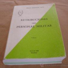 Militaria: RETRIBUCIONES DEL PERSONAL MILITAR - EMILIO GONZALEZ TAPIA, 1980.. Lote 36411465