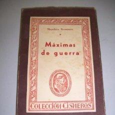 Militaria: BONAPARTE, NAPOLEÓN. MÁXIMAS DE GUERRA. (CISNEROS ; 64). Lote 36604315